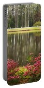 Azaleas And Reflection Pond Portable Battery Charger