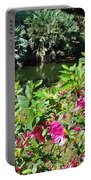 Azaleas By The Pond Portable Battery Charger