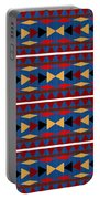 Aztec Blue Pattern Portable Battery Charger