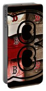 B For Bosox - Vintage Boston Poster Portable Battery Charger