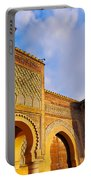 Bab Mansour In Meknes In Morocco Portable Battery Charger