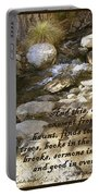 Babbling Brook William Shakespeare Quote Portable Battery Charger