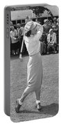 Babe Didrikson Teeing Off Portable Battery Charger