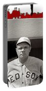 Babe Ruth As Member Of The Boston Red Sox National Photo Company Collection 1919-2013 Portable Battery Charger