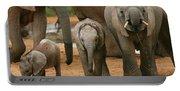Baby African Elephants II Portable Battery Charger