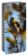 Baby American Goldfinch Learning To Fly Portable Battery Charger