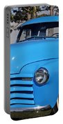 Baby Blue Chevy From 1950 Portable Battery Charger