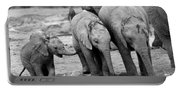 Baby Elephant Trio Bw Portable Battery Charger