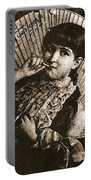 Baby Face Homage 1933 Sepia Variation 2 Virginia City Montana 1971 Portable Battery Charger