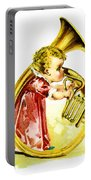 Baby Girl With A French Horn Portable Battery Charger