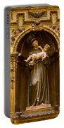 Baby Jesus And A Monk Sculpture Portable Battery Charger