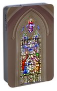 Baby Jesus Stained Glass Window Portable Battery Charger
