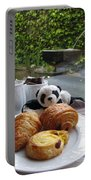 Baby Panda And Croissant Rolls Portable Battery Charger