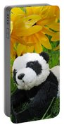 Baby Panda Under The Golden Sky Portable Battery Charger