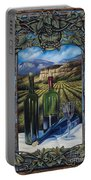 Bacchus Vineyard Portable Battery Charger by Ricardo Chavez-Mendez