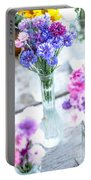 Bachelor Flowers Portable Battery Charger
