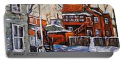 Back Lanes 02 Montreal By Prankearts Portable Battery Charger