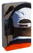 Back Of Mike London Head With Headset Virginia Cavaliers Portable Battery Charger