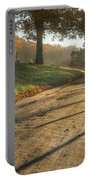 Back Road Morning Portable Battery Charger by Bill Wakeley