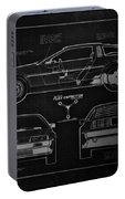 Back To The Future Delorean Blueprint 1 Portable Battery Charger