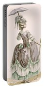 Back View Of Ladys Grey Promenade Portable Battery Charger