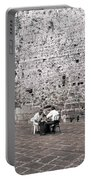 Backgammon At The Ancient Wall Portable Battery Charger