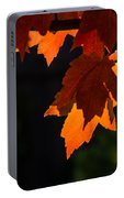 Backlit Autumn Maple Leaves Portable Battery Charger