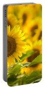 Backlit Sunflower Portable Battery Charger