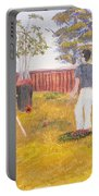 Backyard Cricket Under The Hot Australian Sun Portable Battery Charger