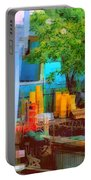 Backyard In Bright Colors Portable Battery Charger