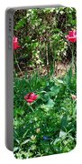 Backyard Tulips Portable Battery Charger