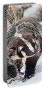 Badger In The Snow Portable Battery Charger