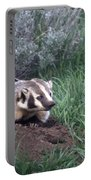 Badger In Yellowstone Portable Battery Charger
