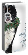 Bah Humb Merry Christmas Portable Battery Charger by Liane Weyers