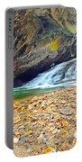 Balanced River Rocks At Birdrock Waterfalls Filtered Portable Battery Charger
