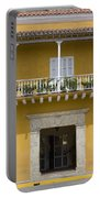 Balconied House At Plaza De La Aduana Portable Battery Charger