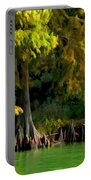 Bald Cypress Trees 1 - Digital Effect Portable Battery Charger