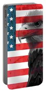 Bald Eagle American Flag Portable Battery Charger