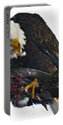 Bald Eagle Eating It's Prey Portable Battery Charger