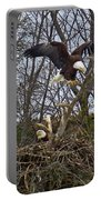 Bald Eagles At Nest Portable Battery Charger