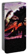 Bali Sunset Impasto Paint Version Portable Battery Charger