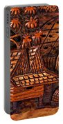 Bali Wood Carving Portable Battery Charger