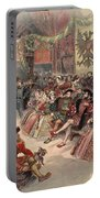 Ball At The Court, Illustration Portable Battery Charger