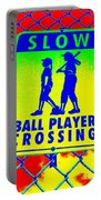 Ball Player Crossing Portable Battery Charger
