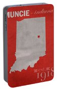 Ball State University Cardinals Muncie Indiana College Town State Map Poster Series No 017 Portable Battery Charger