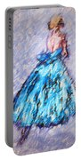 Ballerina In Blue Portable Battery Charger