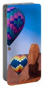 Balloon Festival In Monument Valley Portable Battery Charger