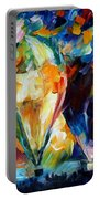 Balloon Parade - Palette Knife Oil Painting On Canvas By Leonid Afremov Portable Battery Charger