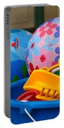 Balls And Toys In Buckets Portable Battery Charger