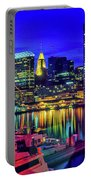 Baltimore Harbor By Night, Baltimore Portable Battery Charger